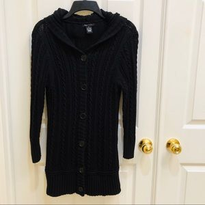 BCBG MAXAZIRA  Hooded Cardigan Sweater XL